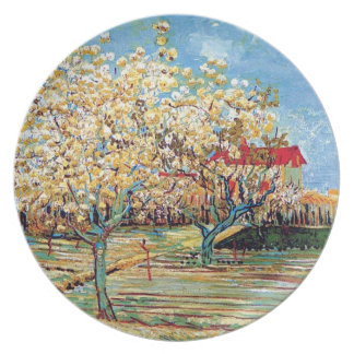 Van Gogh - Orchard In Blossom Party Plate