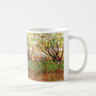 Van Gogh Orchard in Blossom, Vintage Fine Art Coffee Mug