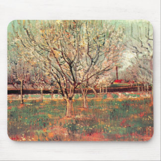 Van Gogh Orchard in Blossom Vintage, Fine Art Mouse Pad