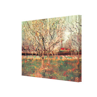 Van Gogh Orchard in Blossom Vintage Impressionism Gallery Wrap Canvas