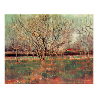 Van Gogh Orchard in Blossom Vintage Impressionism Posters