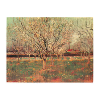 Van Gogh Orchard in Blossom Vintage Impressionism Wood Canvas
