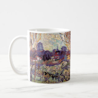 Van Gogh Orchard in Blossom with View of Arles Coffee Mug