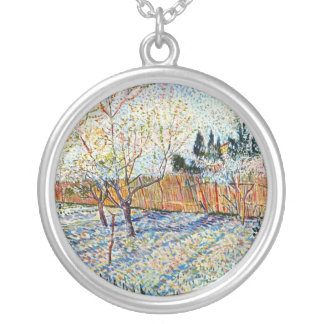Van Gogh - Orchard with Peach Trees in Blossom Personalized Necklace