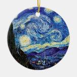 Van Gogh - ornamento del navidad de la noche estre Adornos De Navidad