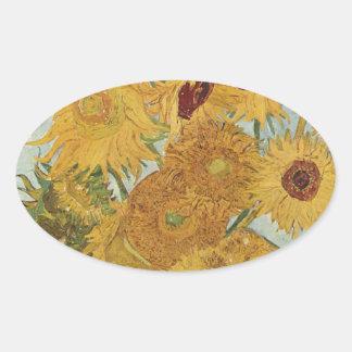 Van Gogh Oval Sticker