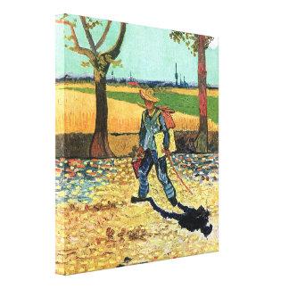 Van Gogh - Painter On His Way To Work Canvas Print
