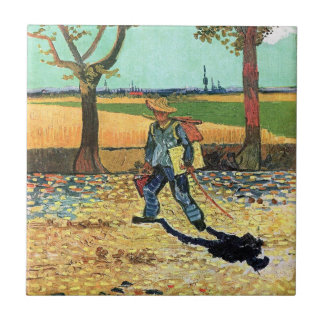Van Gogh - Painter On His Way To Work Ceramic Tile