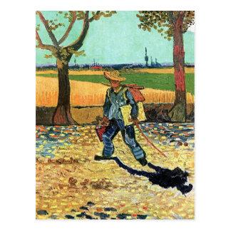 Van Gogh - Painter On His Way To Work Postcard