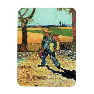 Van Gogh - Painter On His Way To Work Rectangular Photo Magnet