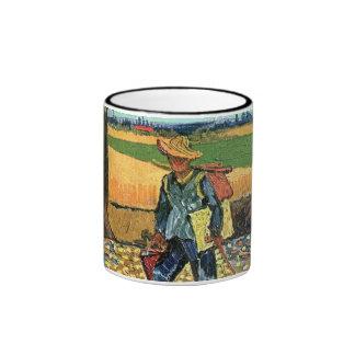 Van Gogh - Painter On His Way To Work Ringer Mug