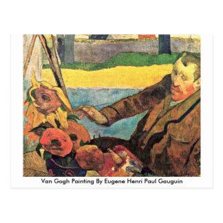 Van Gogh Painting By Eugene Henri Paul Gauguin Postcard