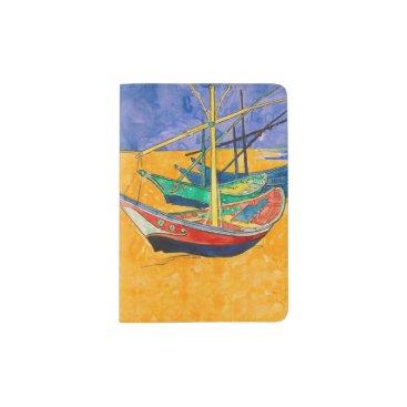 Beach Themed Van Gogh Painting Famous Boats Passport Holder