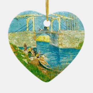 Van Gogh Painting Langlois Brige at Arles Ceramic Ornament