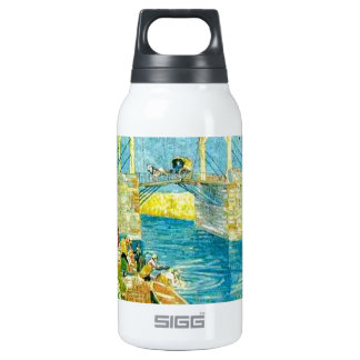 Van Gogh Painting Langlois Brige at Arles Insulated Water Bottle