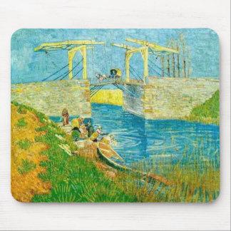Van Gogh Painting Langlois Brige at Arles Mouse Pad