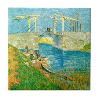 Van Gogh Painting Langlois Brige at Arles Tile