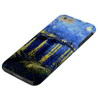 Van Gogh painting, Starry Night over the Rhone Tough iPhone 6 Plus Case