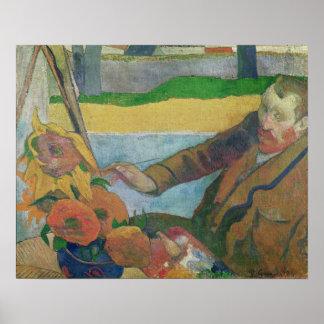 Van Gogh painting Sunflowers, 1888 Poster