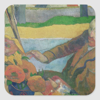 Van Gogh painting Sunflowers, 1888 Square Sticker