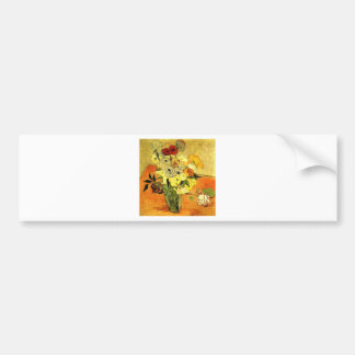 Van Gogh Painting Whimsical Blossoms Flowers Vines Bumper Stickers
