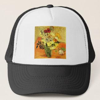 Van Gogh Painting Whimsical Blossoms Flowers Vines Trucker Hat