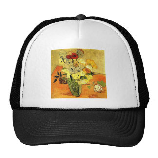 Van Gogh Painting Whimsical Blossoms Flowers Vines Trucker Hat
