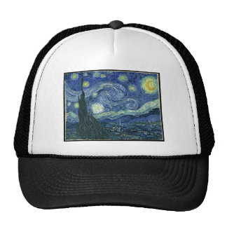 Van Gogh Paintings: Starry Night Van Gogh Trucker Hat