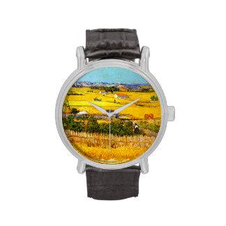 Van Gogh: Paisaje cerca de Arles Relojes De Mano