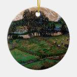Van Gogh; Paisaje con el puente a través del Oise Adornos De Navidad