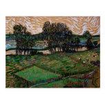 Van Gogh; Paisaje con el puente a través del Oise Postal