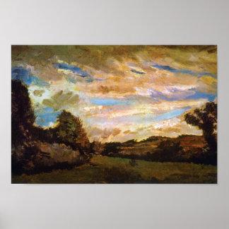Van Gogh - paisaje con las dunas Póster