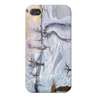 Van Gogh Paisaje del invierno iPhone 4/4S Carcasas