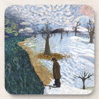 Van Gogh: Paisaje del invierno Posavasos