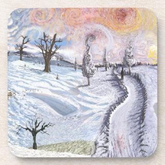 Van Gogh: Paisaje del invierno Posavasos De Bebida