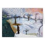 Van Gogh: Paisaje del invierno Tarjetas