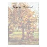 Van Gogh - paisaje del otoño con cuatro árboles Invitación 12,7 X 17,8 Cm