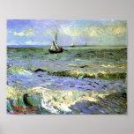 Van Gogh - paisaje marino en Saintes-Maries Impresiones