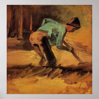Van Gogh; Palillo o espada que se inclina, arte Póster
