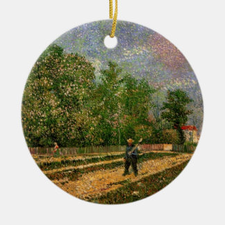 Van Gogh, Paris: Road with Peasant, Vintage Art Ceramic Ornament