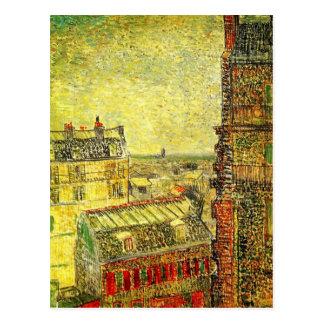 Van Gogh Paris View from Vincent's Room, Rue Lepic Postcard