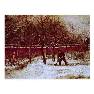 Van Gogh; Parsonage Garden at Nuenen in the Snow Postcard