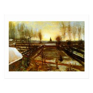 Van Gogh Parsonage Garden in Snow (F67) Postcard