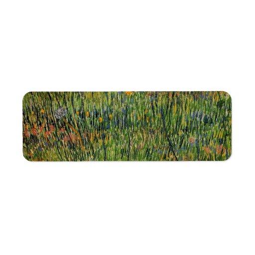 Van Gogh; Pasto en la floración, impresionismo del Etiquetas De Remite