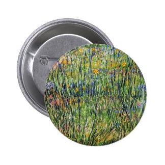 Van Gogh - Pasture In Bloom 2 Inch Round Button
