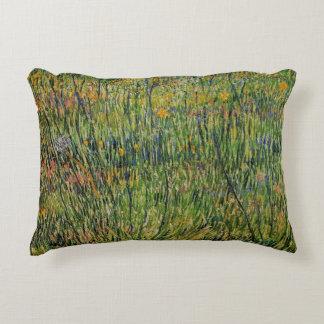 Van Gogh Pasture in Bloom, Vintage Nature Fine Art Decorative Pillow