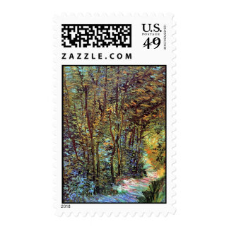 Van Gogh Path In The Woods Postage Stamp