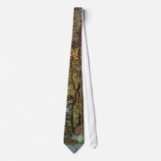 Van Gogh Path in the Woods, Vintage Fine Art Neck Tie