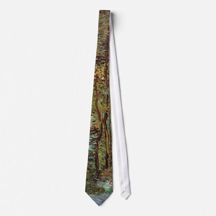Van Gogh Path in the Woods, Vintage Fine Art Neck Tie