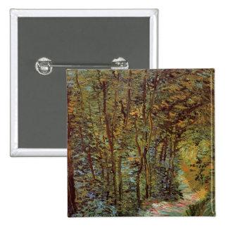 Van Gogh Path in the Woods, Vintage Fine Art Pinback Button